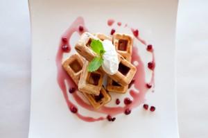 pomegranate pistachio waffle GF