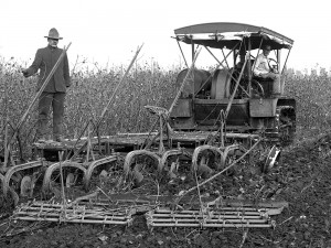Cotton - ManWithEarlyHarvesterAtKearney