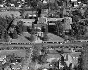 Aerial View of Original Fresno State just before move to new campus - 1954