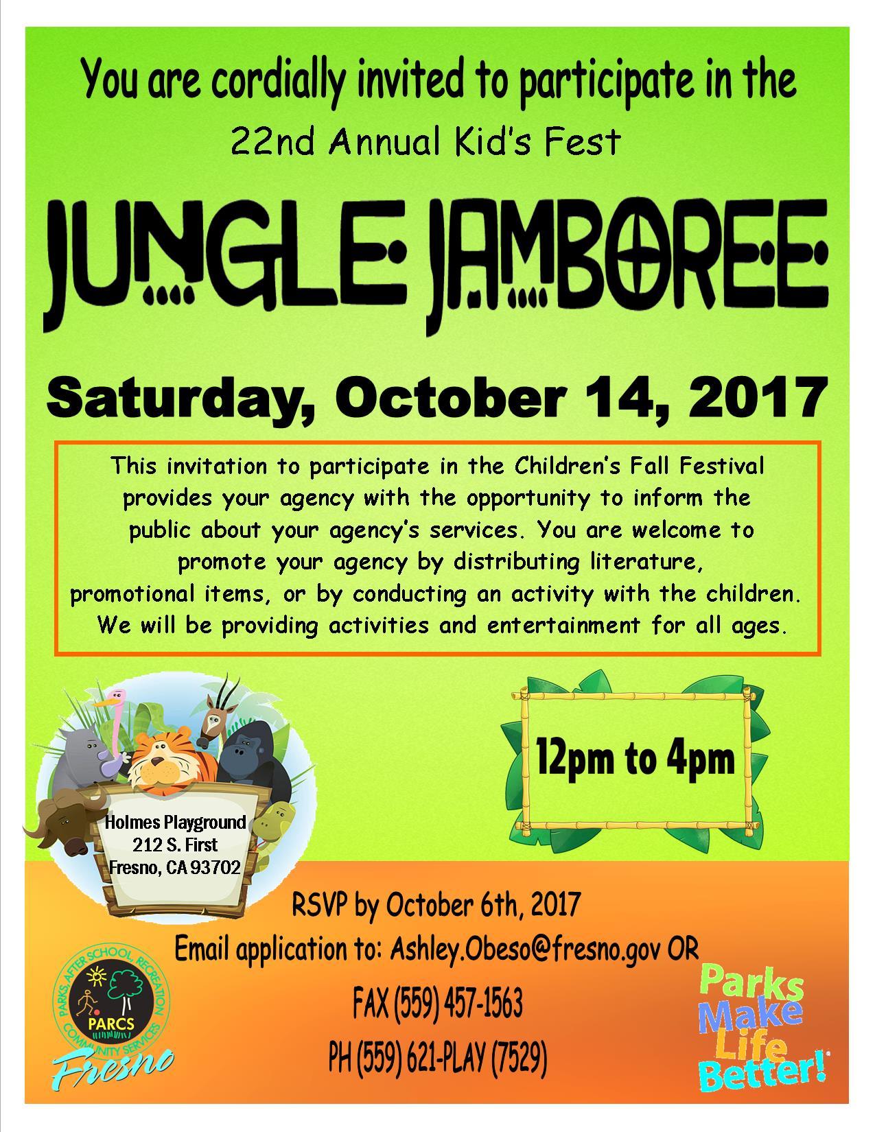 22nd annual kid s fest jungle jamboree invitation to agency