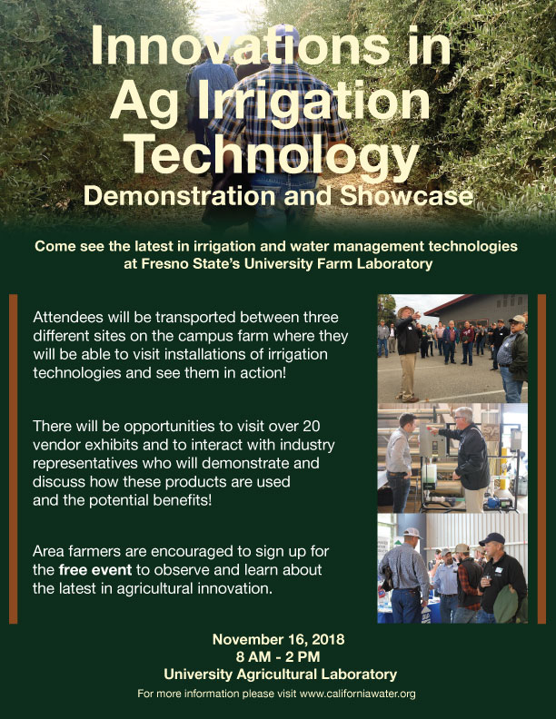 Innovations in Ag Irrigation Technology Demonstration and